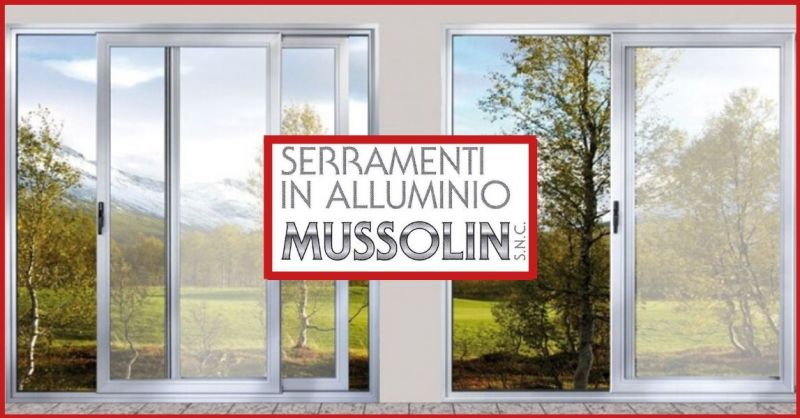SERRAMENTI IN ALLUMINIO MUSSOLIN - Occasione porte e finestre a battente taglio termico Vicenza