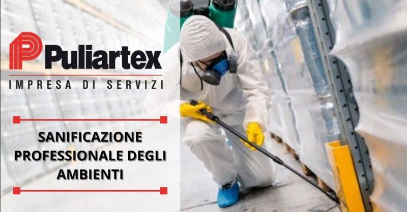 PULIARTEX - Offerta servizio professionale sanificazione apparecchiature magazzini capannoni Lodi