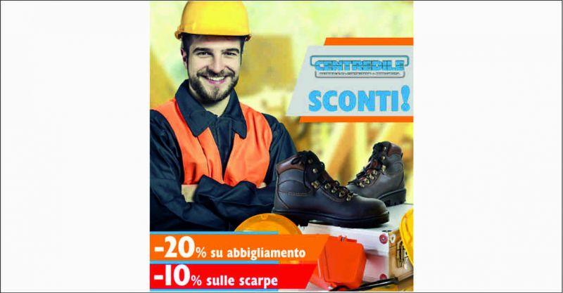 Centredile offerta saldi abbigliamento lavoro - occasione sconti calzature antinfortunistiche