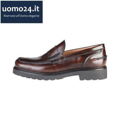 mocassino scarpe on line fondo in gomma made in italy