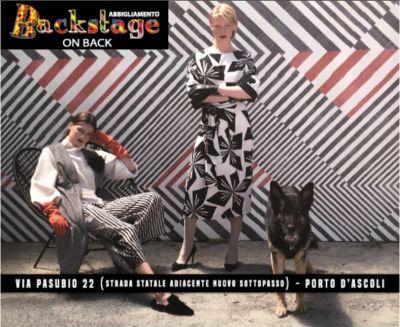 promozione abbigliamento uomo donna moda inverno 2017 backstage on back