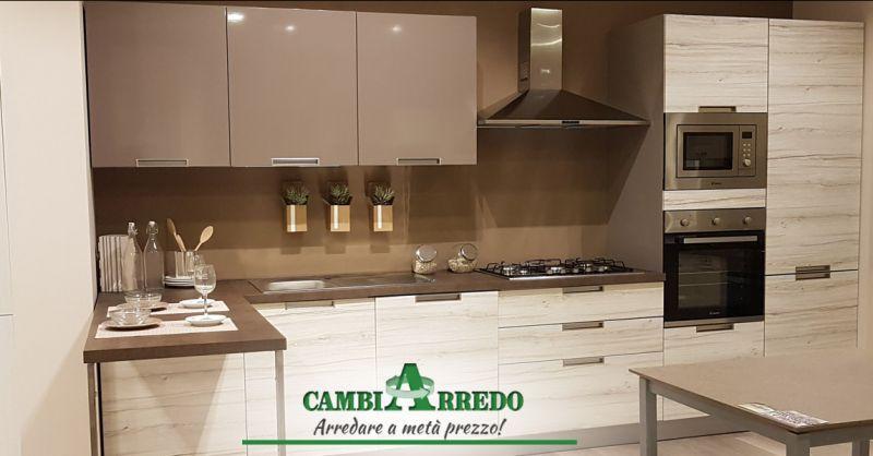 Offerta Cucina Composizione Lineare Piacenza - Occasione Cucina lineare con elettrodomestici