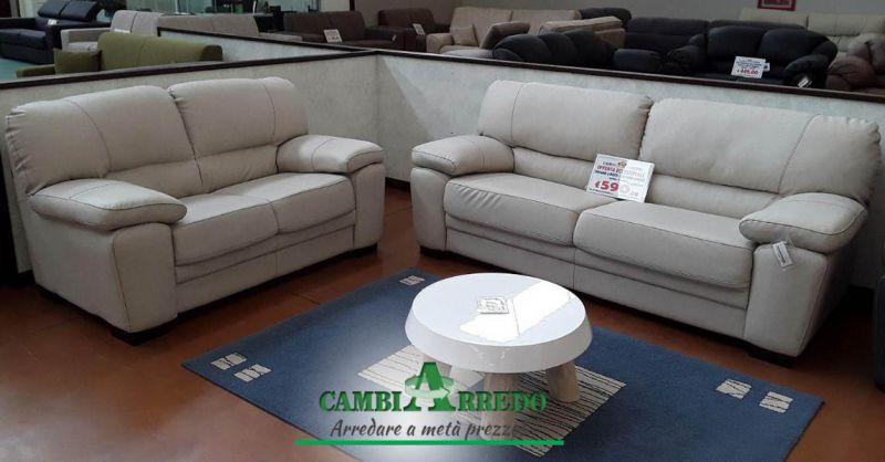 Occasione Divano 3 posti economico Piacenza - Offerta divano 2 posti tessuto in sconto Parma