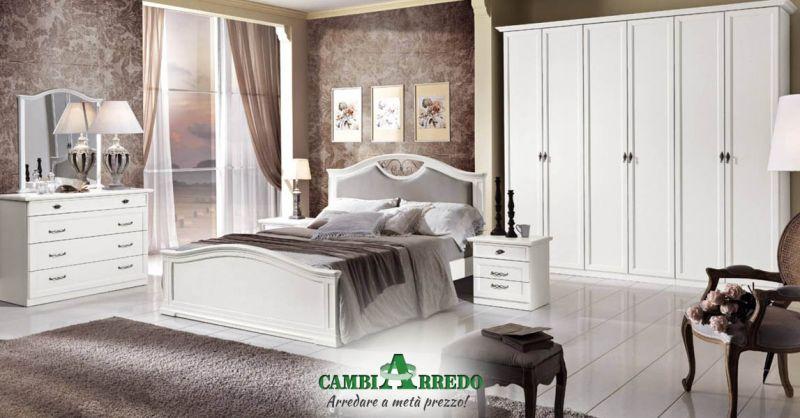 Offerta Camera matrimoniale in stile Classico Piacenza - Occasione camera da letto in stile classico Bianca Parma