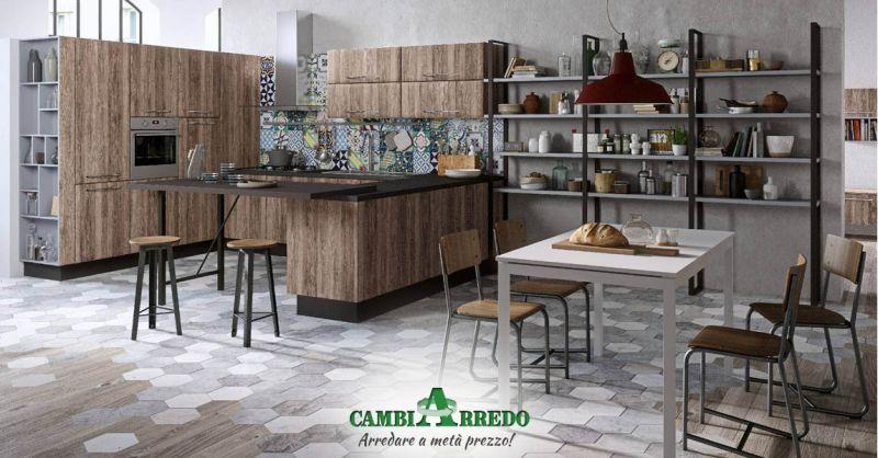 Offerta Cucine moderne industrial style Piacenza - Occasione Cucina stile Metropolitano Parma