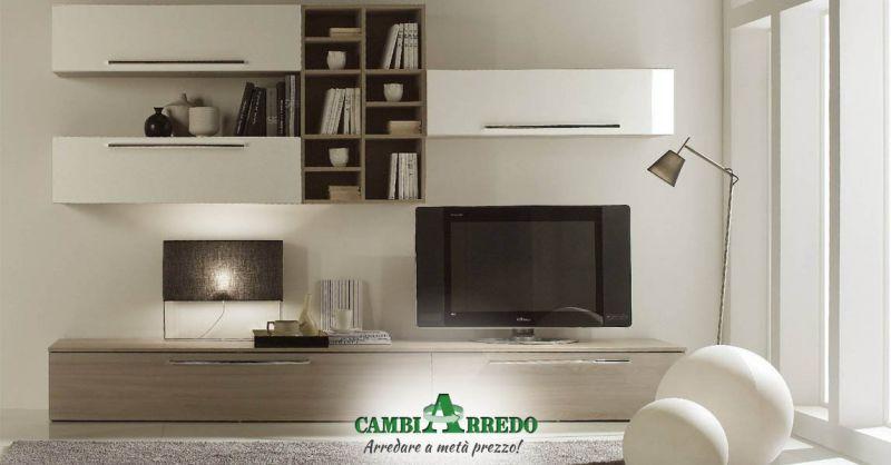 Offerta Parete soggiorno componibile Piacenza - Occasioni Parete attrezzata soggiorno moderno Parma