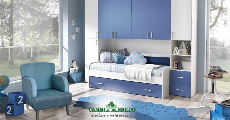 Offerta Cameretta per Bimbi a ponte Piacenza - Occasione Cameretta a doppio letto estraibile Parma
