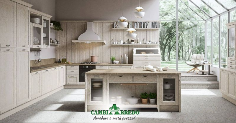 Offerta Cucina country chic Parma -  Occasione Cucina completa in stile Provenzale Parma