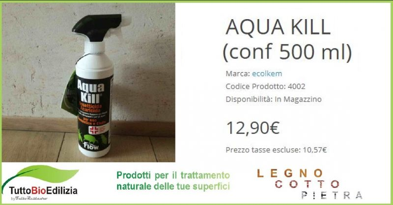 SHOP.TUTTORESTAURO.IT - Promozione vendita online insetticida professionale AQUA KILL ecolkem