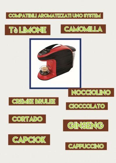 caspule di caffe aromatizzati e bevande calde