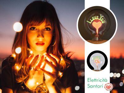 offerta lampada i love you promozione idea lampada regalo san valentino elettricita santori