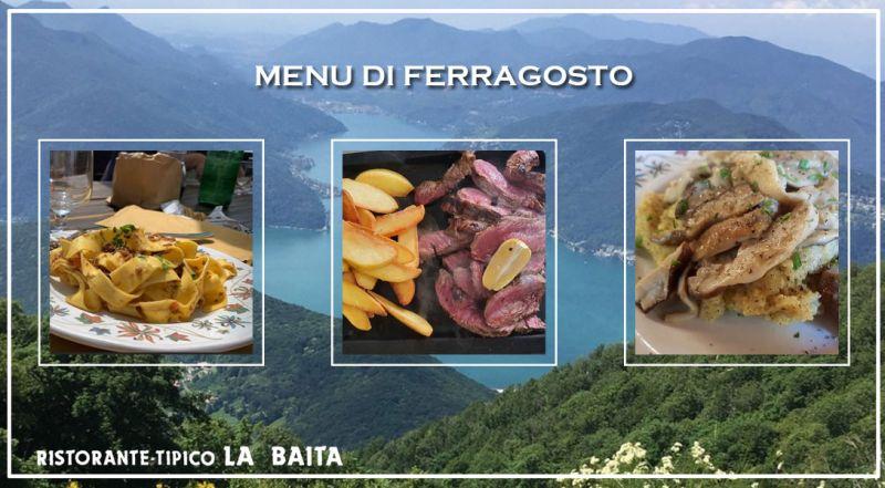 Offerta ferragosto ristorante menu fisso sighignola – promozione Ferragosto menu fisso completo