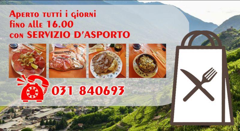 Offerta ristorante servizio asporto lanzo intelvi - promozione ristorante asporto piatti tipici lanzo intelvi