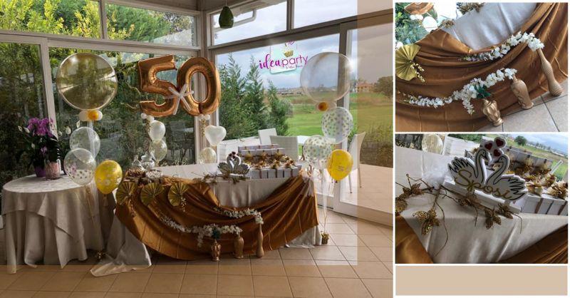 IDEA PARTY Offerta servizio allestimento anniversario matrimonio Salerno