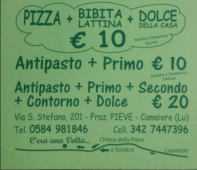 offerta promozione menu dieci euro viareggio,camaiore,pietrasanta