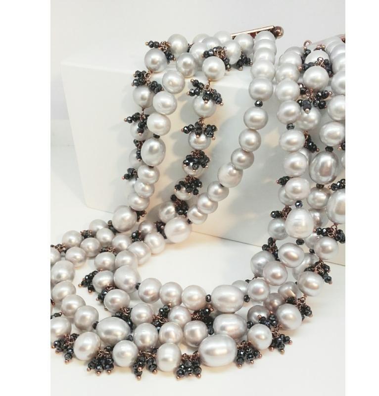 Offerta collana perle montata in argento dorato-Occasione collana perle UDINE
