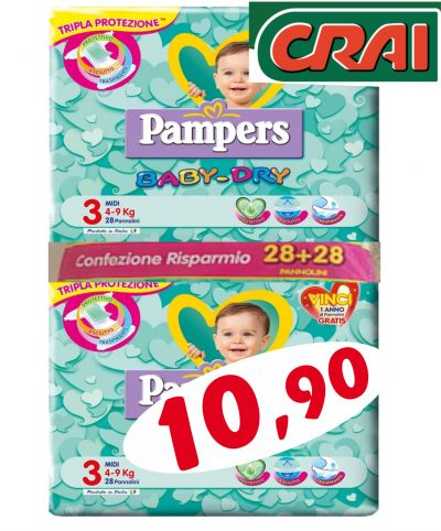 offerta pampers baby dry occasione offerta pampers baby dry udine offerta pampers ud