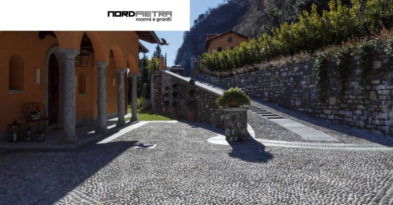 OFFERTA manti stradali con motivi artistici COMO - pavimentazione vialetti in pietra COMO