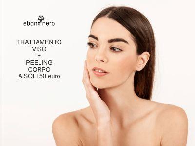 offerta trattamento viso peeling copro promozione centro estetico ebano nero bergamo