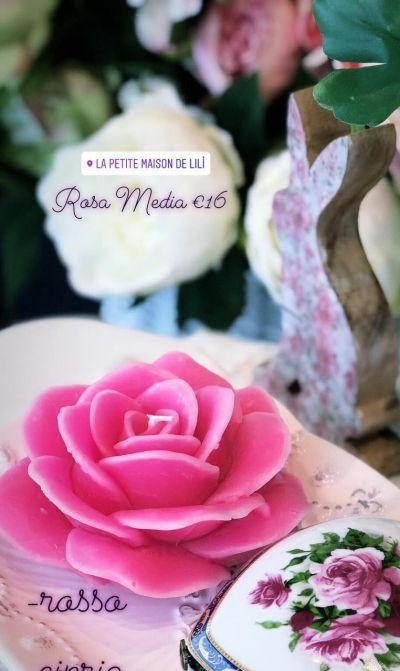 occasione candele a forma di fiore padova offerta candele magnolia rosa antica padova