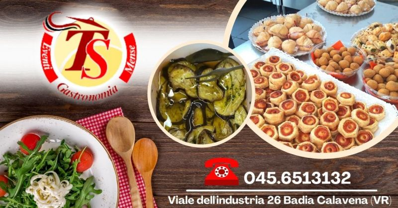 Offerta negozio alimentari produzione propria - Occasione organizzazione rinfreschi per eventi Verona