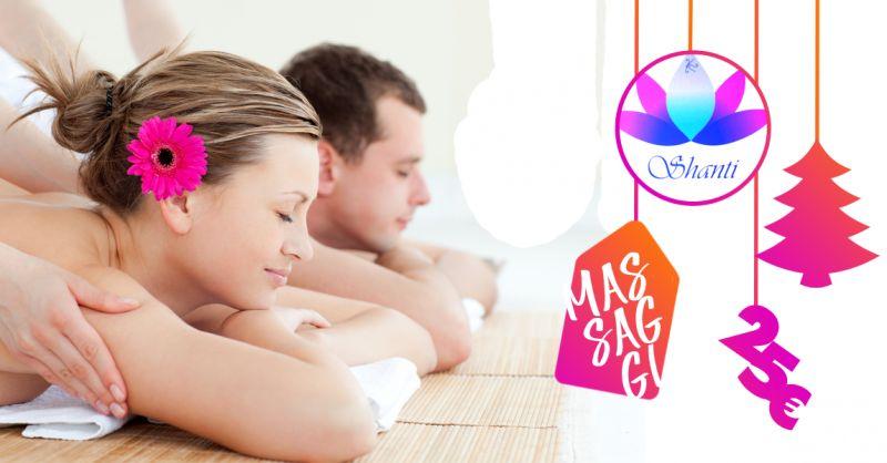 SHANTI ESTETICA BENESSERE offerta idea regalo natale massaggio rilassante decontratturante
