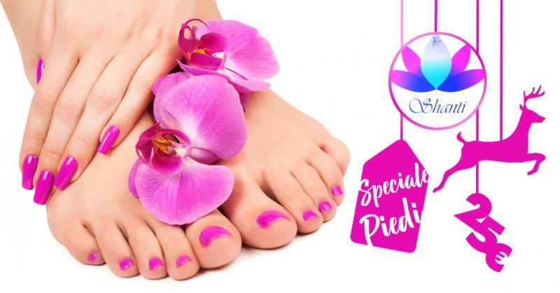 SHANTI ESTETICA BENESSERE offerta idea regalo pedicure massaggio piedi smalto