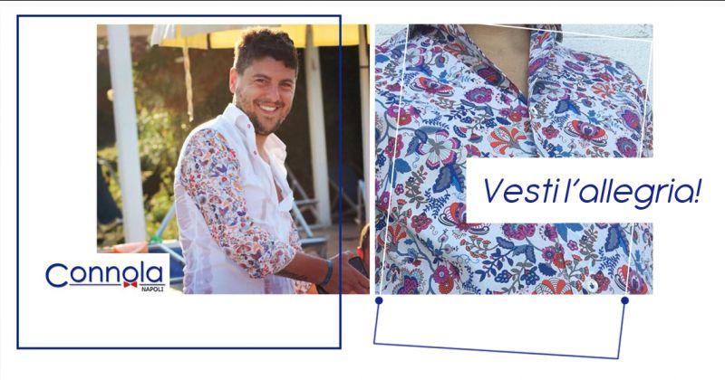 Offerta vendita camicie da uomo fantasia fiori - Sartoria Connola Napoli