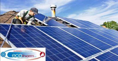 ecotherm snc offerta installazione pannelli solari occasione montaggio impianti fotovoltaici
