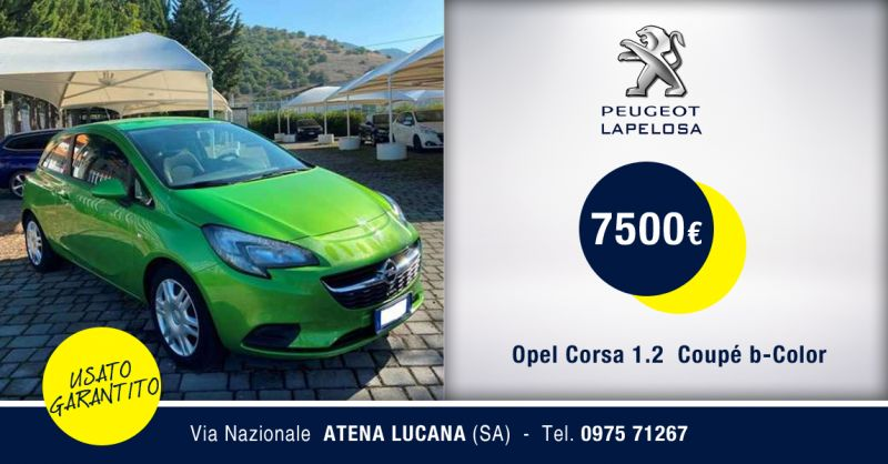 PEUGEOT LAPELOSA - Offerta Opel Corsa 1.2  Coupe Usata Atena Lucana Salerno