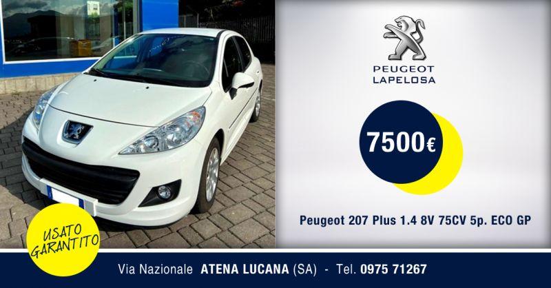 PEUGEOT LAPELOSA SRL - Peugeot 207 Plus GPL Usata Atena Lucana Salerno