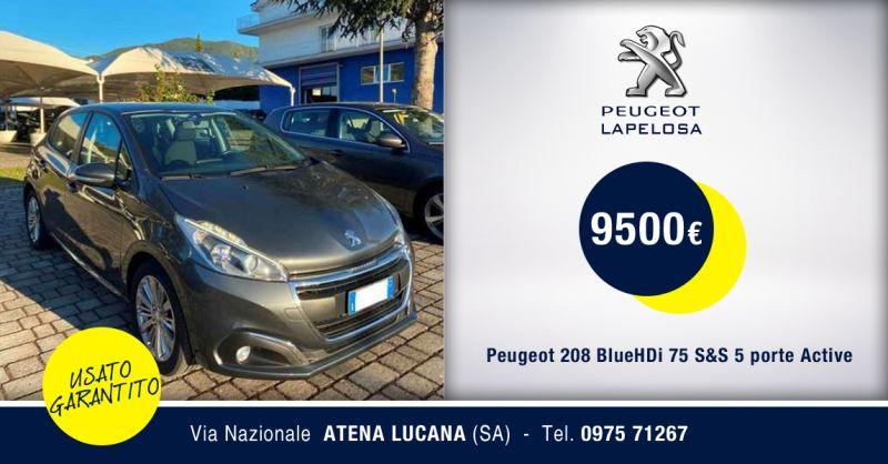 PEUGEOT LAPELOSA SRL - Peugeot 208 BlueHDi 75 Usata Atena Lucana Salerno