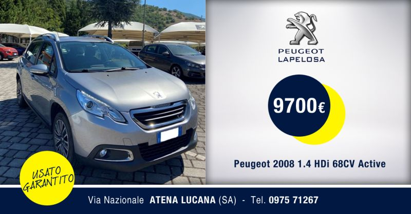 PEUGEOT LAPELOSA SRL - Peugeot 2008 1.4 HDi Usato Atena Lucana Salerno