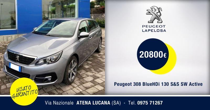PEUGEOT LAPELOSA SRL - Peugeot 308 BlueHDi 130 S&S SW Active Atena Lucana Salerno