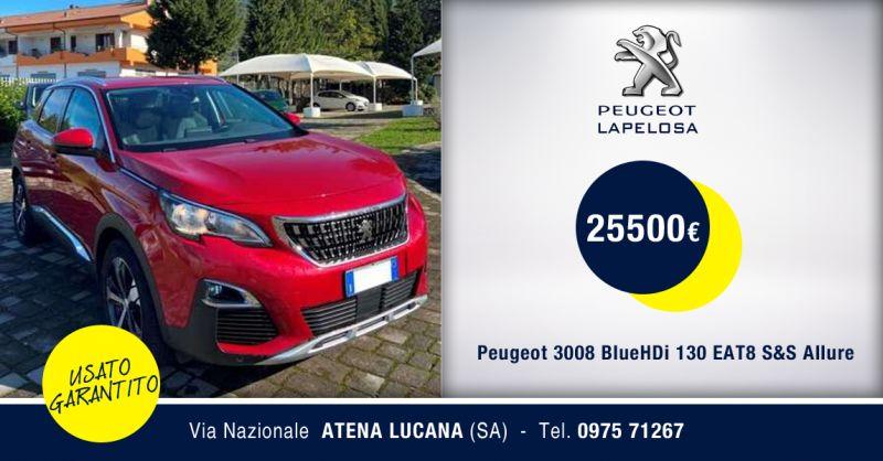 Peugeot 3008 BlueHDi 130 EAT8 S&S Allure usato Atena Lucana Salerno