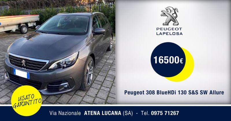 PEUGEOT LAPELOSA SRL - Peugeot 308 BlueHDi 130 S&S SW Allure Usata Atena Lucana Salerno