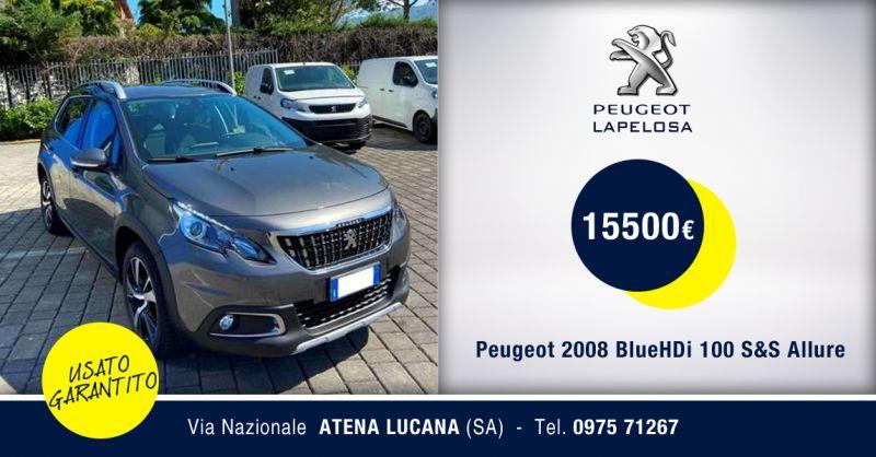 PEUGEOT LAPELOSA  SRL - Peugeot 2008 BlueHDi 100 S&S Allure Usata Atena Lucana Salerno