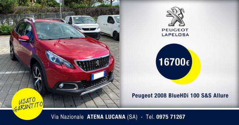 PEUGEOT LAPELOSA SRL - Peugeot 2008 BlueHDi 100 S&S Allure Usato Atena Lucana Salerno