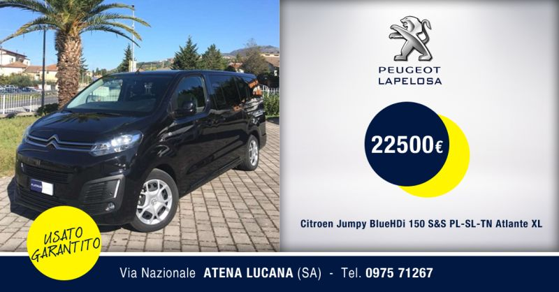 PEUGEOT LAPELOSA - Offerta Citroen Jumpy Atlante XL Usato Atena Lucana Salerno