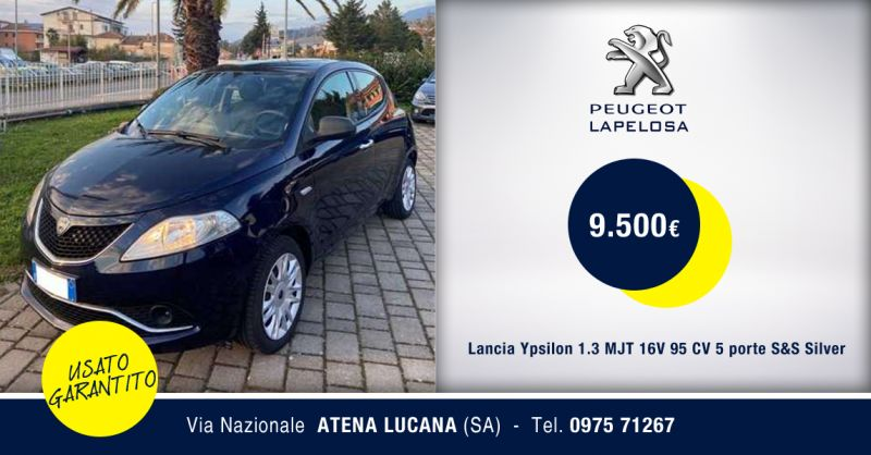 PEUGEOT LAPELOSA SRL - Offerta Lancia Ypsilon 1.3 MJT S&S Silver Usata Atena Lucana