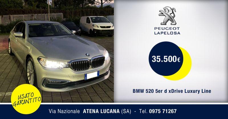 PEUGEOT LAPELOSA - BMW 520 5er d xDrive Luxury Line Usato Atena Lucana