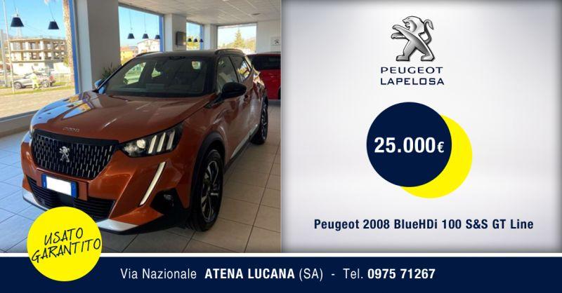 PEUGEOT LAPELOSA - Offerta Peugeot 2008 BlueHDi 100 S&S GT Line Usato Atena Lucana