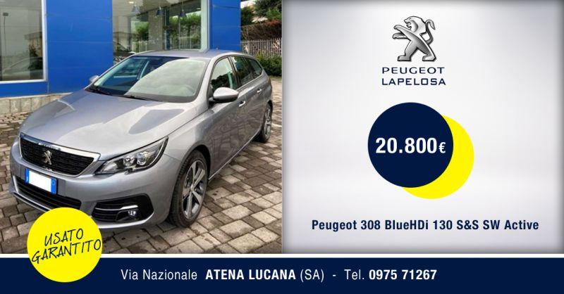 PEUGEOT LAPELOSA  SRL - Offerta Peugeot 308 BlueHDi 130 S&S SW Active Atena Lucana
