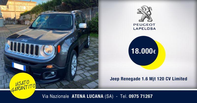PEUGEOT LAPELOSA SRL - Offerta Jeep Renegade 1.6 Mjt Limited Atena Lucana