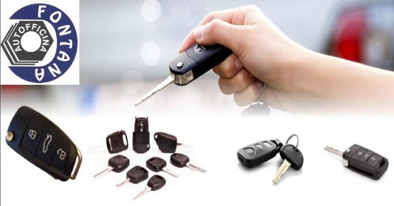 AUTOFFICINA FONTANA offerta duplicazione chiavi auto - occasione copia chiavi automobile Verona