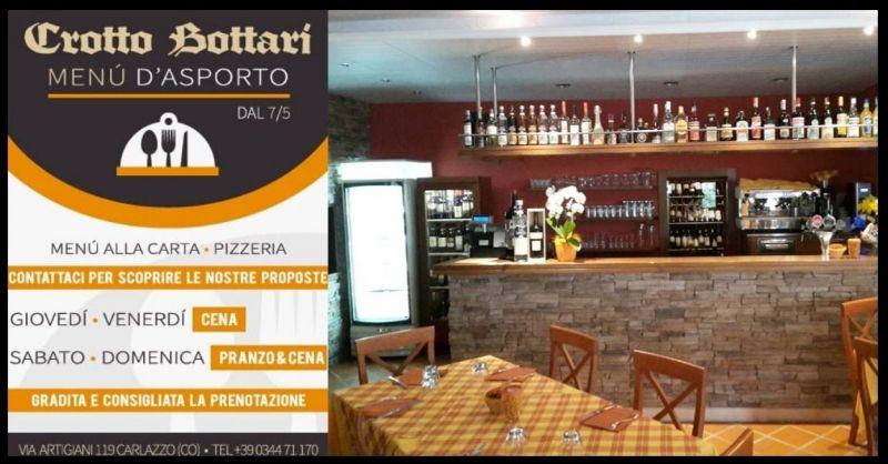 Ristorante Pizzeria Crotto Bottari - Offerta pizzeria ristornate servizio d'asporto CARLAZZO CO