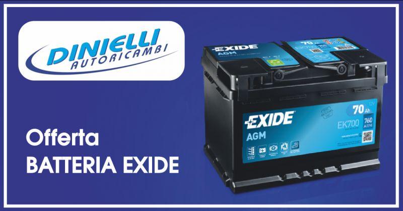 dinielli autoricambi offerta batteria auto - occasione batteria exide imperia