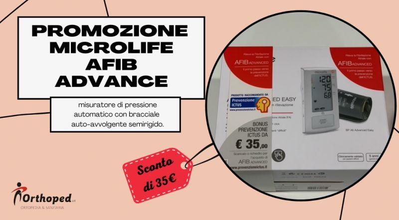 Vendita misuratore per la pressione semi automatico scontato a Udine – offerta misuratore pressione Microlife AFIB ADVANCE in offerta a Udine