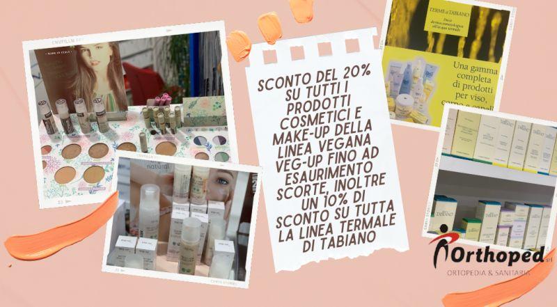 Offerta make-up vegani scontati a Udine – offerta cosmetici VEG-UP e linea termale di TABIANO in offerta a Udine