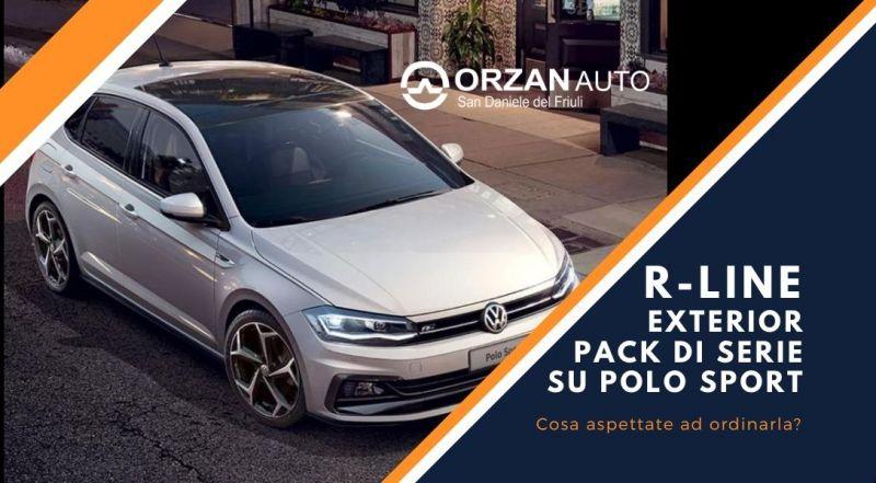 Vendita polo sport con R-LINE EXTERIOR PACK DI SERIE a Udine – Occasione polo nuova a UDINE